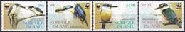 Norfolk-Insel 2004 Tiere Fauna Animals Vögel Birds Oiseaux Pajaro Ave Uccelli Götzenliest Kingfisher WWF, Mi. 895-8 ** - Norfolkinsel