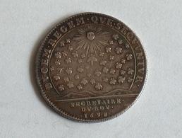 FRANCE JETON 1698 Secretaires Du Roi Argent Silver Secretaire Token - Royal / Of Nobility