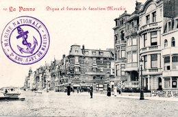 DE PANNE - LA PANNE : Dijk En Verhuurbureel Merckx - Digue Cachet Du 2ème Régiment De Marins De La Marine Nationale - De Panne