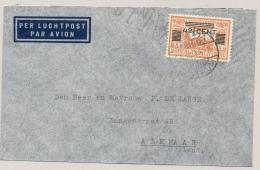 Nederlands Indië - 1934 - 42,5 Cent Opdrukzegel Enkelfrankering Op LP-cover Van Batavia Naar Alkmaar / Nederland - Indes Néerlandaises