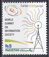 Pakistan 2005 Gesellschaft Information Kommunikation Communication Sender Station WSIS Tunis, Mi. 1253 ** - Pakistan