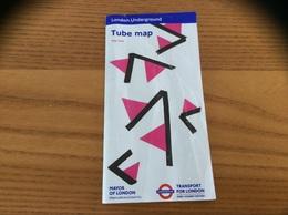 Plan - MÉTRO AUTOBUS DLR TRAM - Tube Map 2018 London - Angleterre - Europe