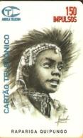 Angola - ANG-03, Rapariga Quipungo, Children, 150U, 50.000ex, 8/96, Used - Angola