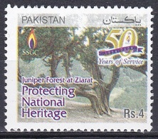 Pakistan 2004 Wirtschaft Economy Energie Energy Rohstoffen Company Erdgas Gas Wald Forest Wacholder Ziarat, Mi. 1214 ** - Pakistan