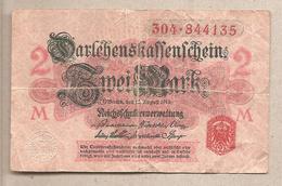 Germania - Banconota Circolata Da 2 Marchi P-54 - 1914 - [ 2] 1871-1918 : Impero Tedesco