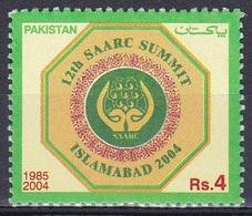 Pakistan 2004 Organisationen Konferenzen Meeting Zusammenarbeit Kooperation Cooperation SAARC, Mi. 1206 ** - Pakistan