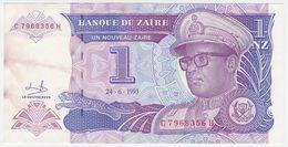 Zaire P 52 - 1 Nouveau Zaire 24.6.1993 - AUNC - Zaire
