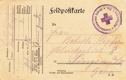 Feldpostkarte Avec Cachet Vereinslazarett-Börse * Mülhausen I. Els * Du 24.8.15 Adressée à Singen - Storia Postale