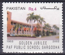Pakistan 2003 Bildung Ausbildung Education Schulen Scools Militär Luftwaffe Airforce Gebäude Buildings, Mi. 1160 ** - Pakistan