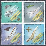 Pakistan 1978 Verkehr Transport Luftfahrt Aviation Flugzeuge Aeroplanes Planes Wright Erfinder, Mi. 475-8 ** - Pakistan