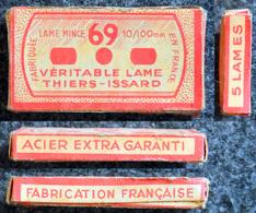 Ancienne Boîte De Lames De Rasoir, Complète, LAME 69 Thiers-Issard - 5 Lames - Razor Blades
