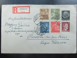 Brief Letter - Sondermarken R.A.D. Hitler - An Leutnant 1943 - R-Brief - Radom Generalgouvernement GG - Germany