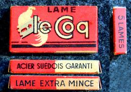 Ancienne Boîte De Lames De Rasoir, Complète, Le Coq 5 Lames - Razor Blades