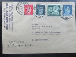 Brief Letter - Sondermarke HJ - Hitler - 1943 - NSDAP / DAF / KdF - Germany