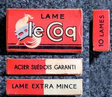Ancienne Boîte De Lames De Rasoir, Complète, Le Coq 10 Lames - Razor Blades