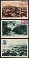 NOUVELLE CALEDONIE: Beau Lot De 3 Cartes Différentes De Nouméa, écrites De Tao (lieu Dit) Et Obl à Nouméa En 1931 - Lettres & Documents