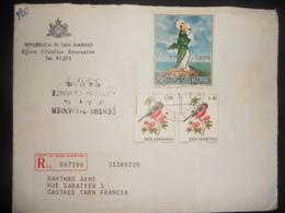 San-marin Lettre Recommandee De 1972 Pour Castres - Lettres & Documents