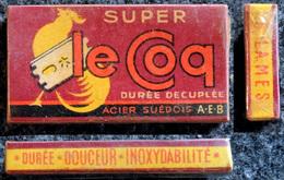 Ancienne Boîte De Lames De Rasoir, Complète Le Coq SUPER 5 Lames Sous Cellophane - Razor Blades