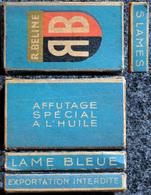 Ancienne Boîte De Lames De Rasoir, Complète LAME RB - R. Beline 5 Lames Bleues - Razor Blades