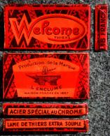 Ancienne Boîte De Lames De Rasoir, WELCOME L'enclume Thiers 5 Lames Encore Sous Cellophane - Razor Blades
