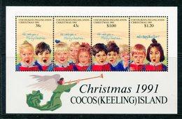 Cocos (Keeling) Islands 1991 Christmas MS MNH (SG MS251) - Cocos (Keeling) Islands
