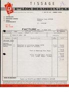 FACTURE ETS LEON DEBAISIEUX ET FILS - LANNOY (NORD) - 13 MARS 1968 - 1950 - ...