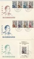 République Du Congo  Lot De 3 FDC 1962 - Dag Hammarskjold - Prix Nobel De La Paix 1961 - République Du Congo (1960-64)