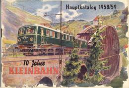 Catalogue KLEINBAHN Modelleisenbahn HO 1958/59 Vintage 10 Jahre - German