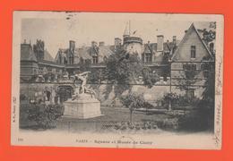ET/148 PARIS SQUARE ET MUSEE DE CLUNY // écrite Timbre Poste 1903 - Piazze