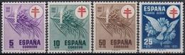 ESPAÑA 1950 Nº 1084/87 NUEVO PERFECTO - 1931-50 Nuevos & Fijasellos