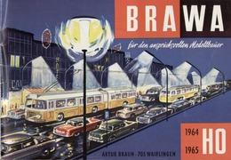 Catalogue BRAWA EHEIM 1964/65 Trolleybus Sessellift Lorenseilbahn HO N - German