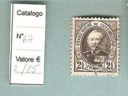 """Luxembourg (1891) - """"Effigie Del Granduca Adolfo"""" - Franchi 2,5 - 1891 Adolfo Di Fronte"""