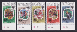 NICARAGUA N° 1127, AERIENS N° 933 à 936 ** MNH Neufs, Surchargés Rouge, TB (D7417) JO Moscou, Année De L'Enfant - Nicaragua
