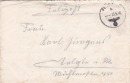 German Feldpost WW2: Attacking France - Artillerie-Regiment 6 (6./II)  FP 17257D P/m  23.5.1940 - Letter Inside (DD21-10 - Militaria