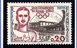 """SPORTS - 1960: 20c Noir, Lie-de-vin  """"J.O. De Rome""""  N° 1265 Obl - Oblitérés"""