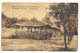 Cpa: 78 SAINT GERMAIN EN LAYE - Restaurant Hôtel De La Croix Saint Simon, Kiosque Du Duc - St. Germain En Laye