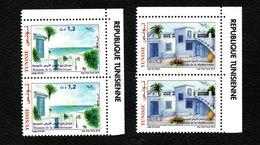 2018- Tunisie- Euromed- Maisons De La Méditerranée- Paire De L'émission Complete - Set 2 V.MNH** Avec Marge - Emisiones Comunes