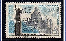 """SITES ET MONUMENTS - 1960: 15 C Bleu, Gris Et Sépia  """"Basilique De Lisieux""""  N° 1268 Obl - Oblitérés"""