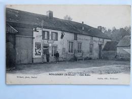 C.P.A. : 08 POILCOURT : Café Aubin, Animé - France