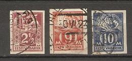 Estonie 1922 - Petit Lot De 3° Non Dentelés - YT 52/55/56 - Estonie