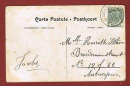 Brasschaet 2 1910 Op Katastrofenkaart 2 Scan - Postmark Collection
