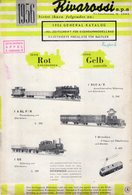 Catalogue RIVAROSSI 1956  Brochure Serie Rot Und Serie Gelb - German