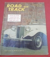 Rare Revue Vintage Sport Automobile Américaine Road And Track Février 1953 MG, Ferrari, Panhard, Jaguar ...Lagonda V12 - Autres