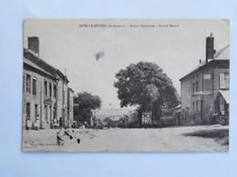 C.P.A. : 08 DOM LE MESNIL : Route Nationale, Grand Mesnil, Café Des Touristes, Animé, Timbre En 1911 - Francia