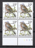 BELGIE * Buzin  PRE * Nr 834 P6 * Plaatnr 1 * Postfris Xx * GROENE GOM - 1985-.. Oiseaux (Buzin)