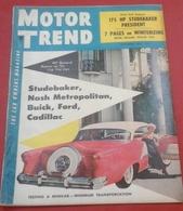 Rare Revue Vintage Automobile Américaine Motor Trend Novembre 1954 Studebaker,Buick,Cadillac,Mac Farland Phaeton 1921 - Livres, BD, Revues