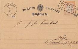 DR Karte EF Minr.18 Plf.XII R3 Boitzenburg I. D. Uckermark 12.1.73 Gel. Nach K1 Lebbin 14.1.73 - Deutschland
