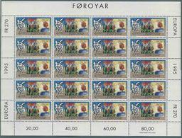 1995 Europa C.E.P.T., Minifogli Faeroer, Serie Completa Nuova (**) - Europa-CEPT