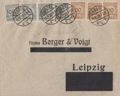 DR Brief Mif Minr.4x 322, 3x 323A Cassel 11.11.23 - Deutschland