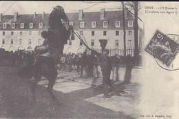 REPRODUCTION DE C P A---70---GRAY--12ème Hussards--( Cavalerie Trés Légère ! )--voir 2 Scans - Gray